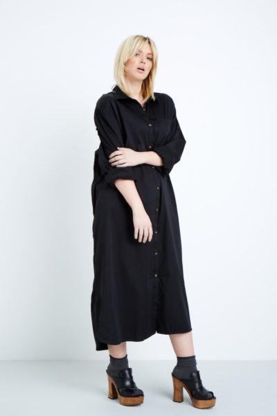 universal standard georgia shirtdress plus size black Coverstory