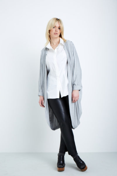 Shegul Mia Cocoon Cardigan gray plus size gray coverstory