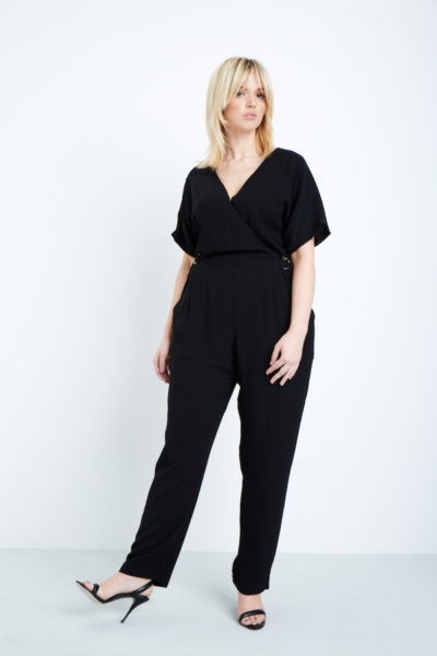 elvi black jumpsuit plus size black COVERSTORY