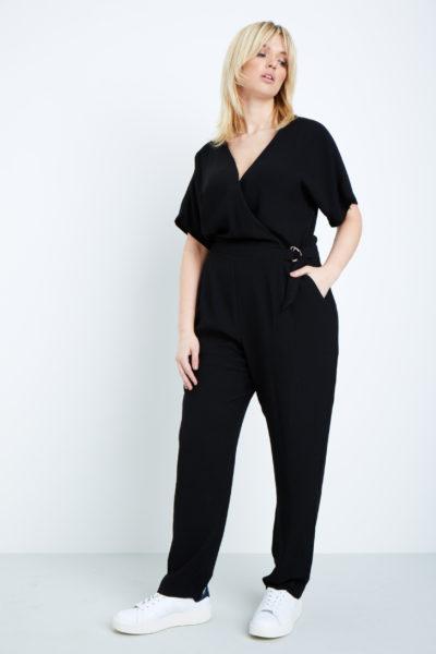 elvi black jumpsuit plus size black