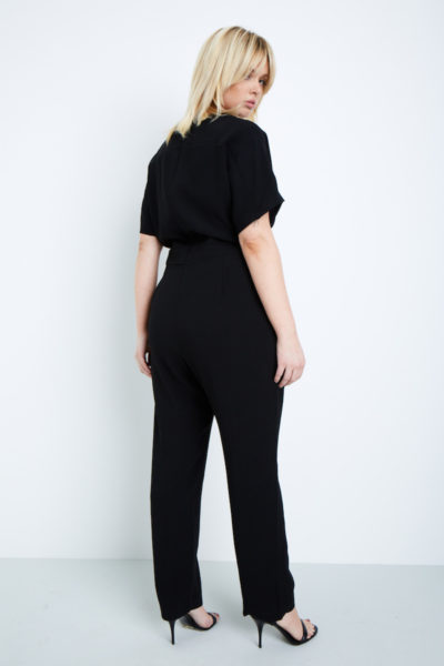 elvi black jumpsuit plus size black plus size coverstorynyc