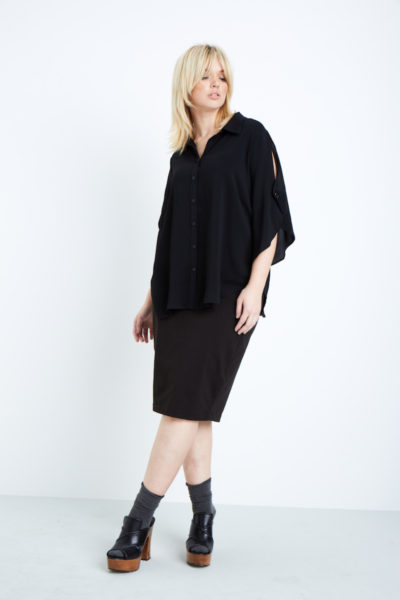 shegul cape sleeve blouse plus size coverstory