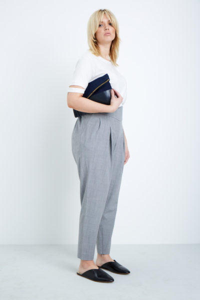 shegul tapered leg pant plus size gray coverstory