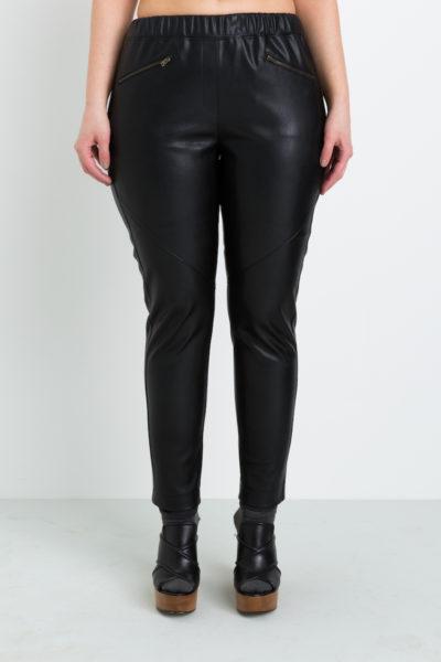 Shegul Ava Vegan Leather Pants plus size Coverstory
