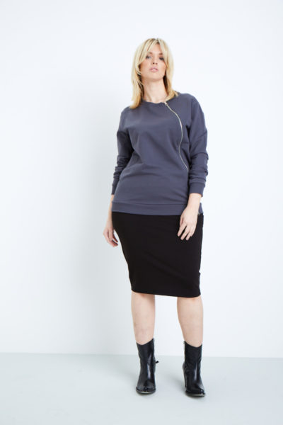 universal standard meridian pullover plus size grey coverstorynyc