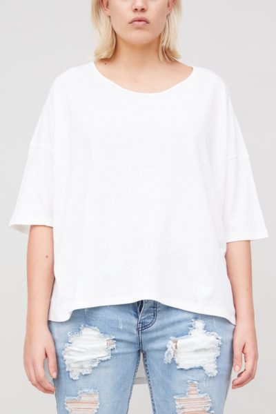 OAK wide tee bone plus size CoverstoryNYC