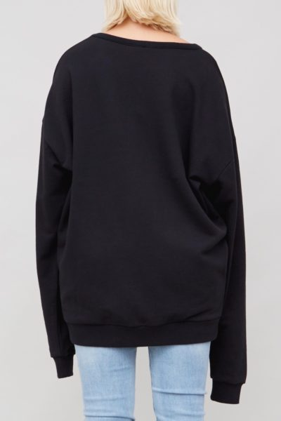 OAK ARC SWEATSHIRT PLUS size BLACK coverstoryNYC