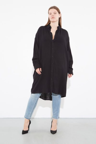 OAK giant shirt plus size Black CoverstoryNYC