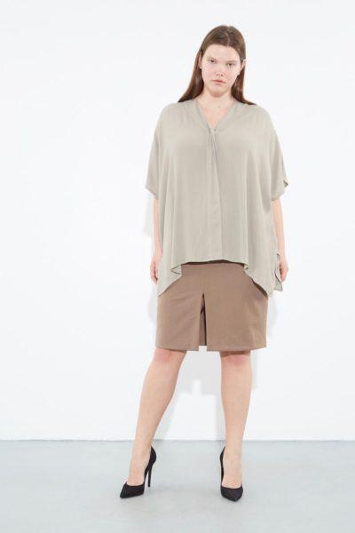 OAK Kimono Shirt plus size Cement CoverstoryNYC