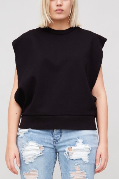 OAK Sideless Pullover Black plus size CoverstoryNYC