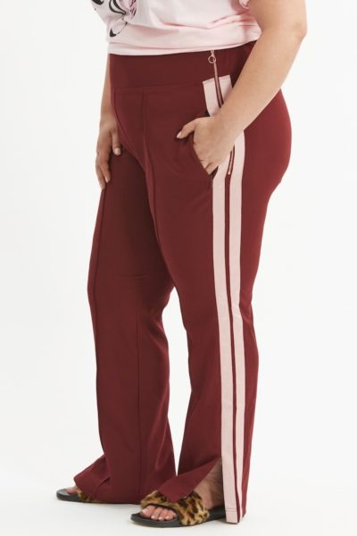 see rose go track pant burgundy plus sizeundy