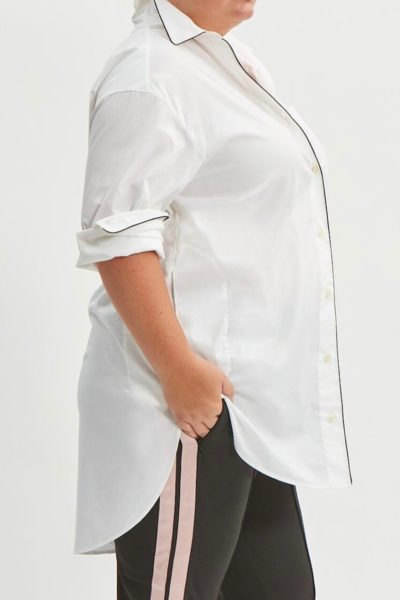 see rose go tunic shirt plus size white