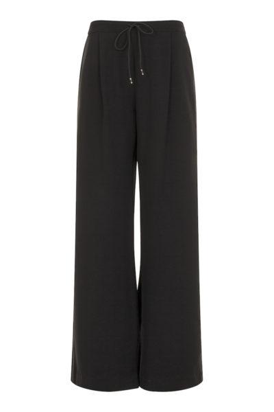 Elvi wide leg side stripe pant black plus size