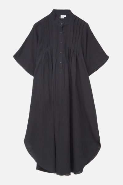 OAK Pintuck Maxi Dress plus size black