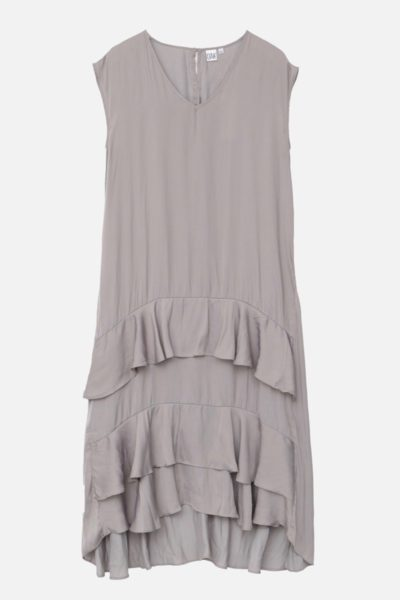 OAK devoe maxi dress taupe plus size coverstory