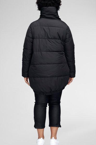 universal standard kanda puffer jacket black plus size