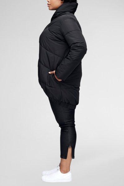 universal standard kanda puffer black plus size