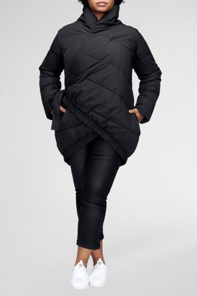 universal standard kanda puffer jacket black plus size Coverstorynyc