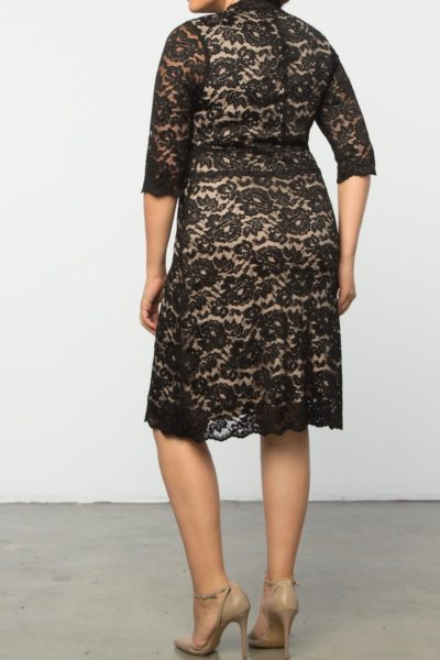 Kiyonna Boudoir Lace Dress plus size black CoverstoryNYC