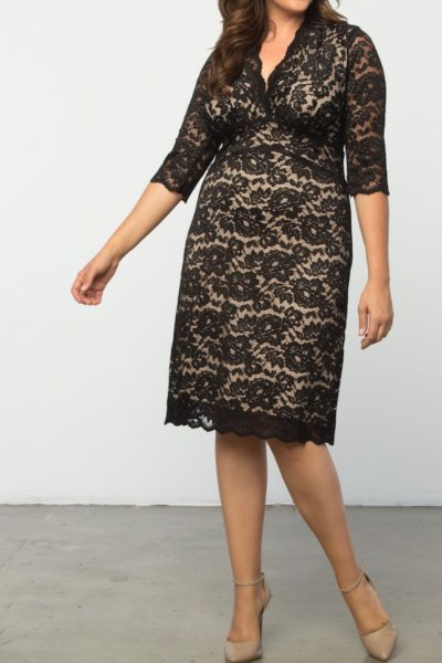 Kiyonna Boudoir Lace Dress plus size black CoverstoryNYC