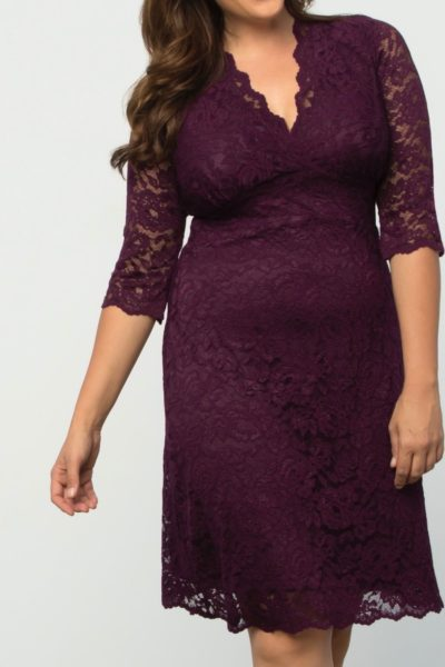 Kiyonna boudoir lace dress plus size wine coverstorynyc