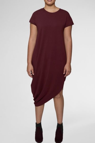 universal standard geneva dress rum raisin plus size CoverstoryNYC