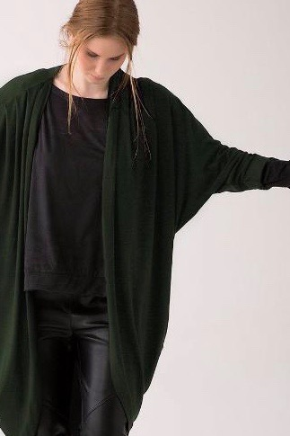 Shegul Mia cocoon cardigan olive plus size Coverstory
