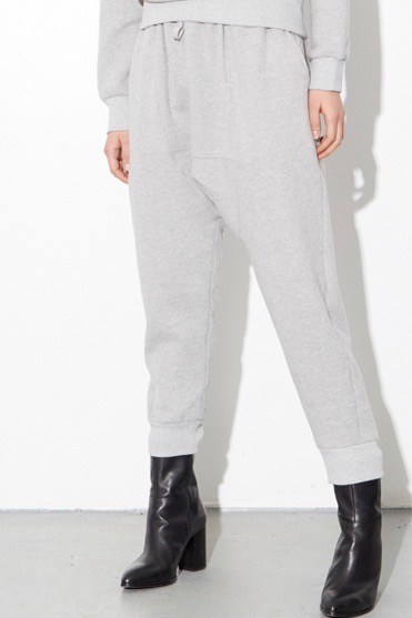 OAK cuffed gusset sweatpants plus size heather grayy