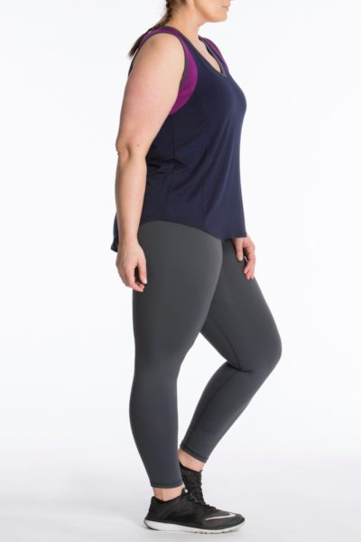 Lola Getts Color Block Muscle Tee plus szie activewear CoverstoryNYC