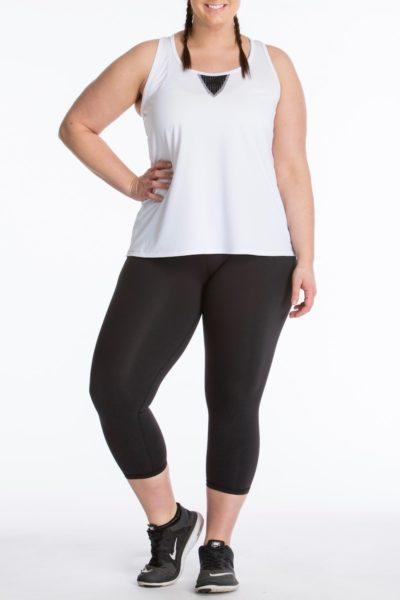 Lola Getts Easy Tank white black plus size activewear
