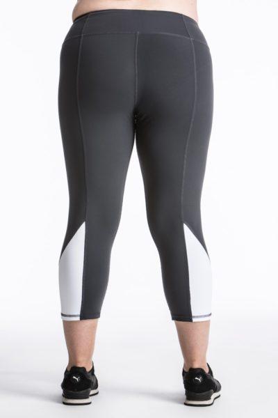 lola getts skinny colorblock capri charcoal white plus size coverstorynyc