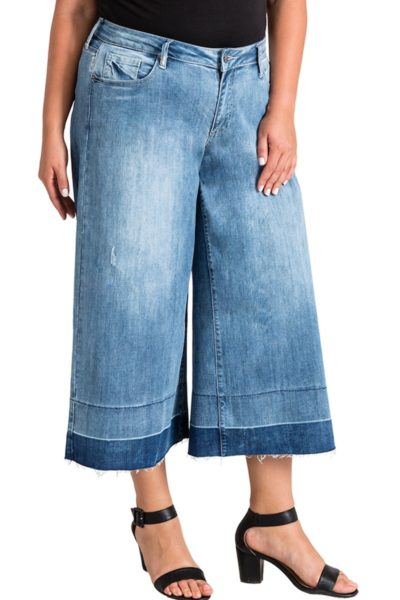 Standard & Practices bobbie wide leg jeans plus size