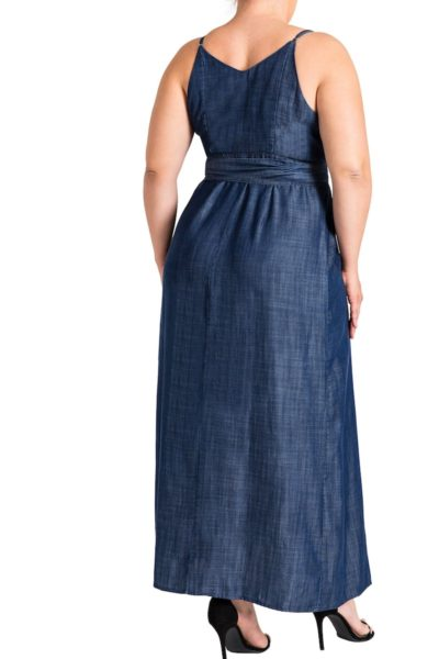 Standard & Practices Jodi Denim Maxi Dress plus size Coverstory