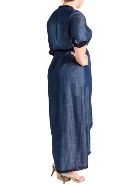 Standard & practices elle denim maxi dress plus size