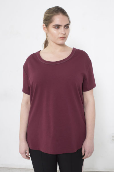 See Rose Go My Favorite Tee Burgundy plus size Coverstory