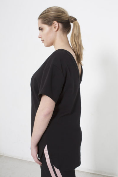 See Rose Go My Favorite Tee Black plus size Coverstory