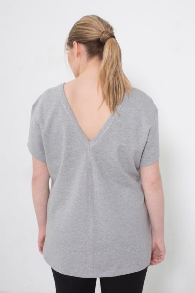 See Rose Go My Favorite Tee Grey Heather plus size