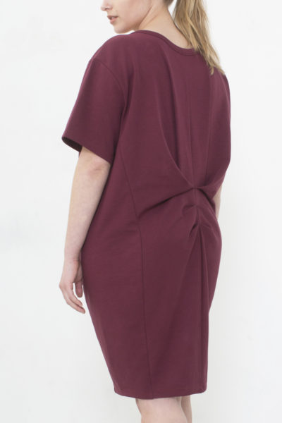 See Rose Go My Go-To Dress Burgundy plus size CoverstoryNYC