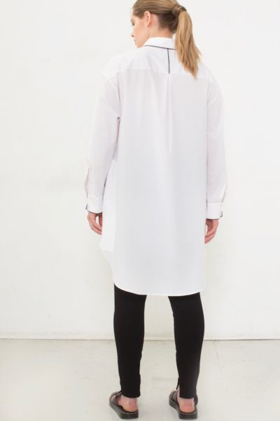 See Rose Go Tunic Shirt Plus size White Coverstory