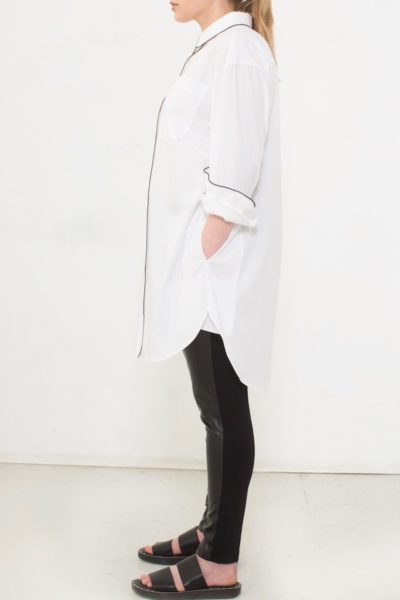 See Rose Go Tunic Shirt Plus size White CoverstoryNYC