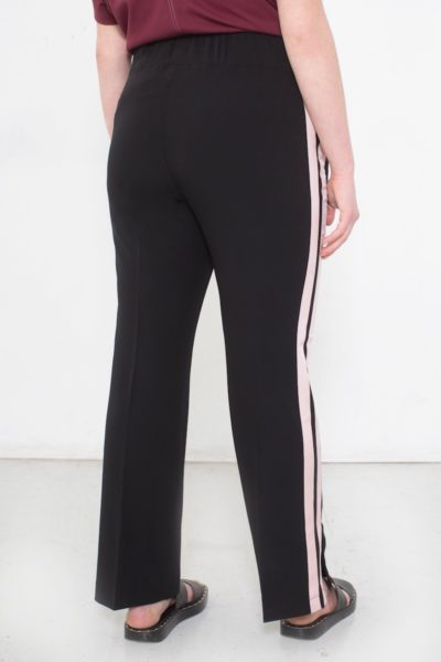 See Rose Go Track Pants Black plus size CoverstoryNYC