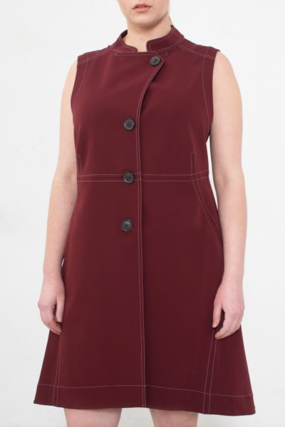 See rose go layering vest plus size bordeaux CoverstoryNYC