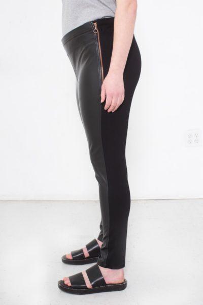 See Rose Go Vegan Leather Legging Plus size black Coverstory