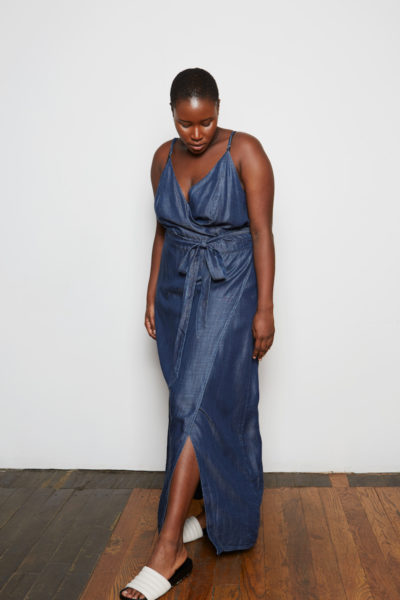 Standard & Practices Jodi Denim Maxi Dress plus size