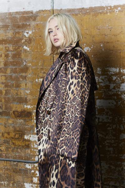 Shegul leopard print trench plus size