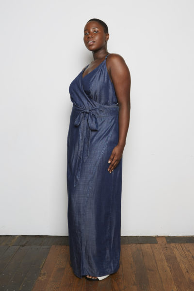 Standard & Practices Jodi Denim Maxi Dress plus size CoverstoryNYC