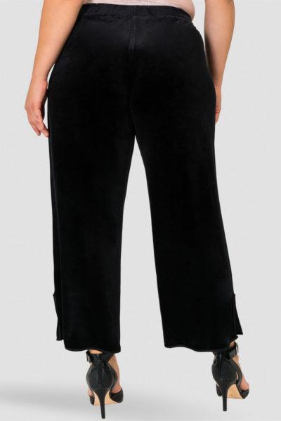 Standards & Practices Libby Velvet Wide Leg Pant plus size black CoverstoryNYC