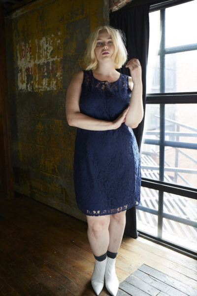 BB dakota plus size zani lace dress navy