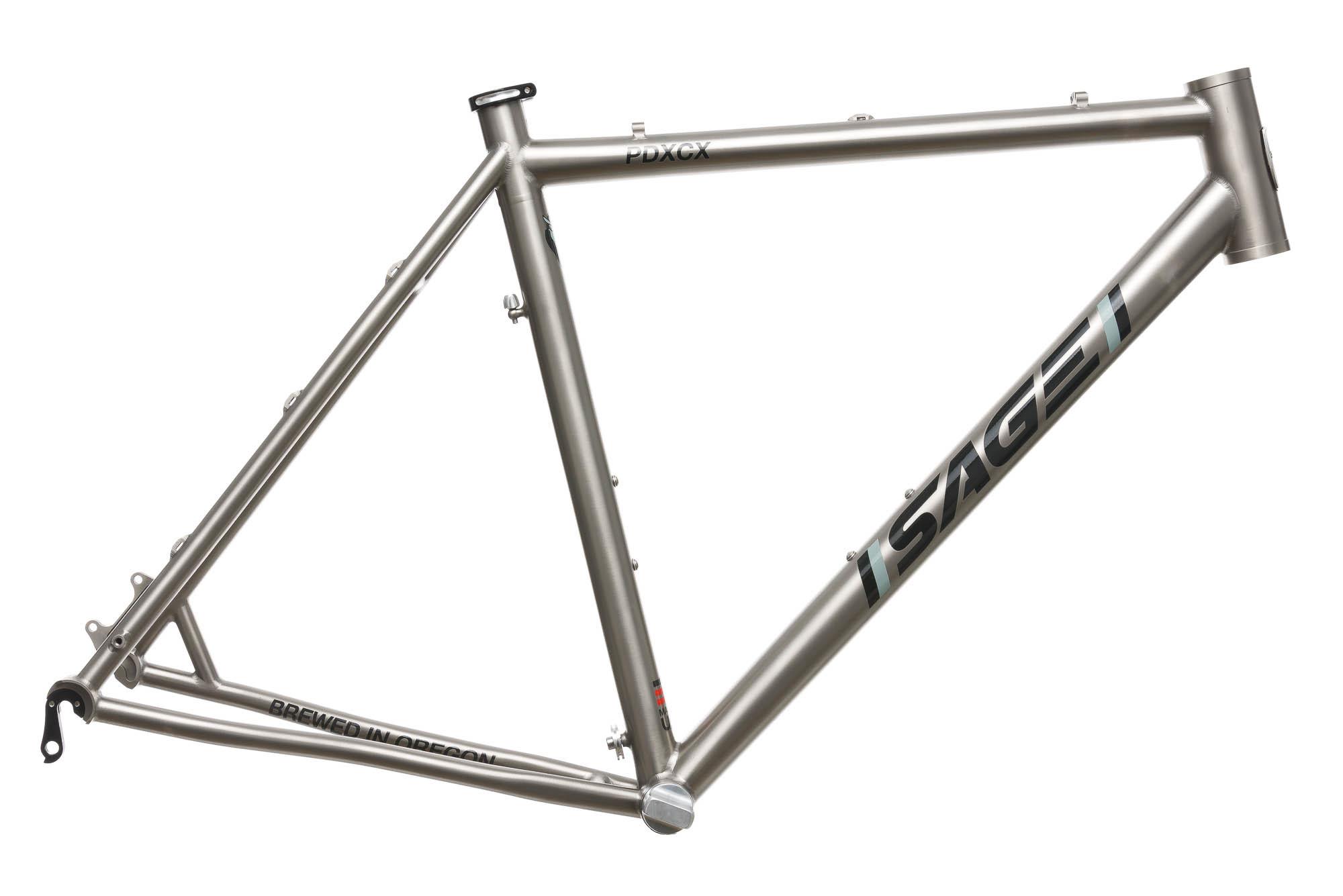 2016 Sage Titanium PDXCX Cyclocross Bike Frame 54cm MEDIUM Disc | eBay