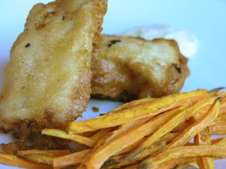 pumpkin ale fish and chips